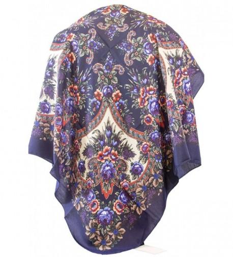 Floral Pattern Eastern European Style Fashion Square Scarf 40`` X 40`` w\o fringes. - Style G - CU184R2GQZO