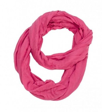 Solid Color Jersey Fabric Infinity Scarf - Pink - CH11HUXGJ5R