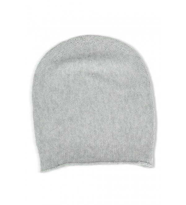 b699e00a Fishers Finery Women's 100% Pure Cashmere Slouchy Beanie - Pebble -  CL11PCM5CCJ