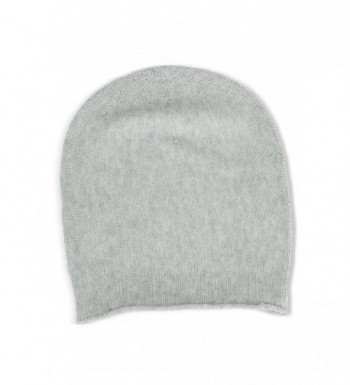 Fishers Finery Women's 100% Pure Cashmere Slouchy Beanie - Pebble - CL11PCM5CCJ