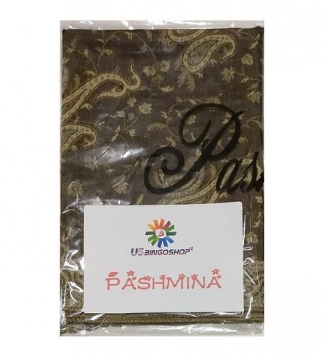 USBingoshop Elegant Cashew Pashmina 12 Brown in Wraps & Pashminas