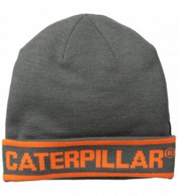 Caterpillar Men's Stand-Out Knit Cap - Dark Heather Grey - CP11LUA977R
