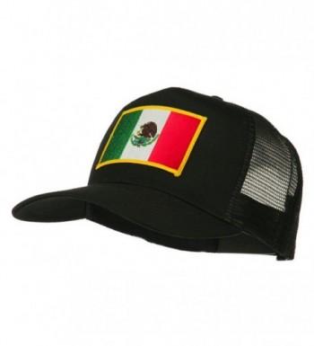 Mexico Flag Patched Mesh Cap - Black - CL11Q3T1AAV
