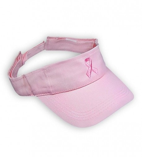 Breast Cancer Awareness Pink Ribbon Visor - Pink - CB12KBTJ7E1