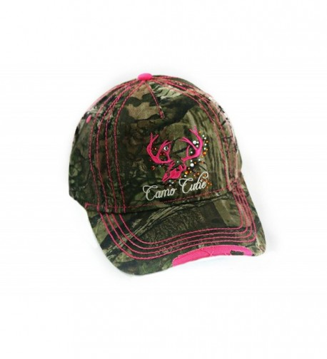 Hot Pink Camo Cutie Cap-Mossy Oak Camo Cap with Hot Pink Trim and Logo - CG1293V1NYP