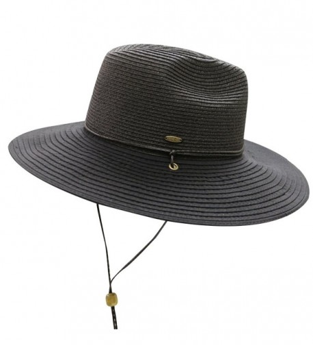 City Hunter Unisex CC St111 Upf50+ Protect Wide Brim Straw Sun Hat 2 Colors - St311 Black - CL183MZEM6R