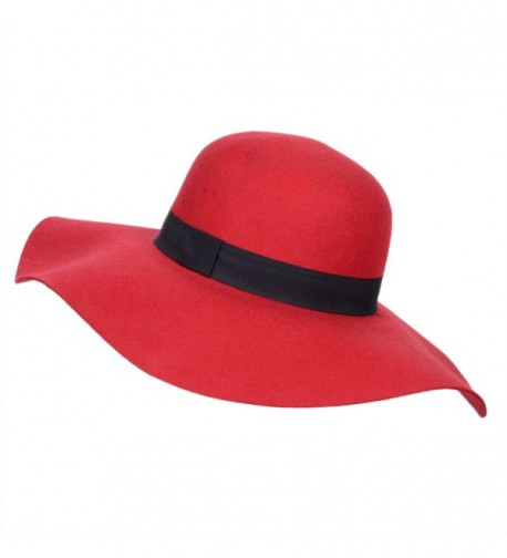 Verashome Fedora Womens Vintage Bowler - Red - C618526RU5S