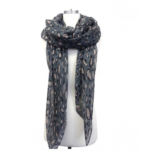 Leopard Nation Scarf (All Colors Available) - Grey - CS11CJTXEQ9