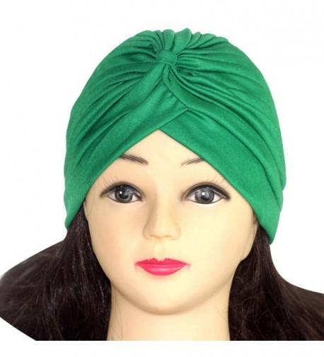Qingfan Women Solid Pre Tied Yoga Cancer Chemo Hat Beanie Turban Stretch Head Wrap Cap - M - C7185W03584