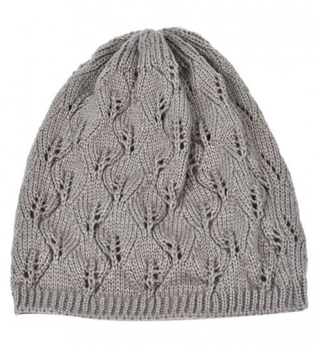 HANYI Leaves Hollow Knitting Gray