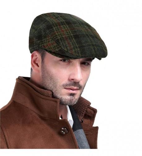 Men's Premium 100% Wool Classic Flat Ivy Newsboy Collection Hat - C512BQY5U2D