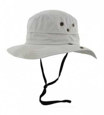 Mens Safari Sun Hat Wide Brim + Strap - Packable Crushable - CP127A8Z7QH