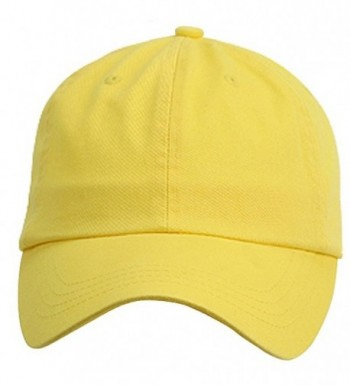 Low Profile Velcro Adjustable Cotton Twill Cap Yellow One Size - CI1281GPP0L