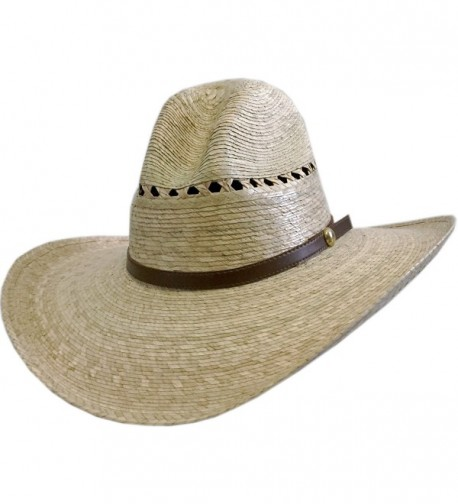 BULL-SKULL HATS- PALM LEAF COWBOY HAT- GUS 507 - Natural Palm - C811VWS8XMX