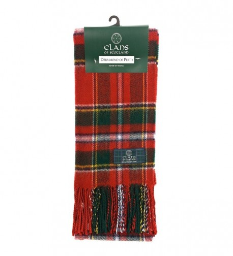 Clans Of Scotland Pure New Wool Scottish Tartan Scarf Drummond Of Perth (One Size) - CY1257ALHNR