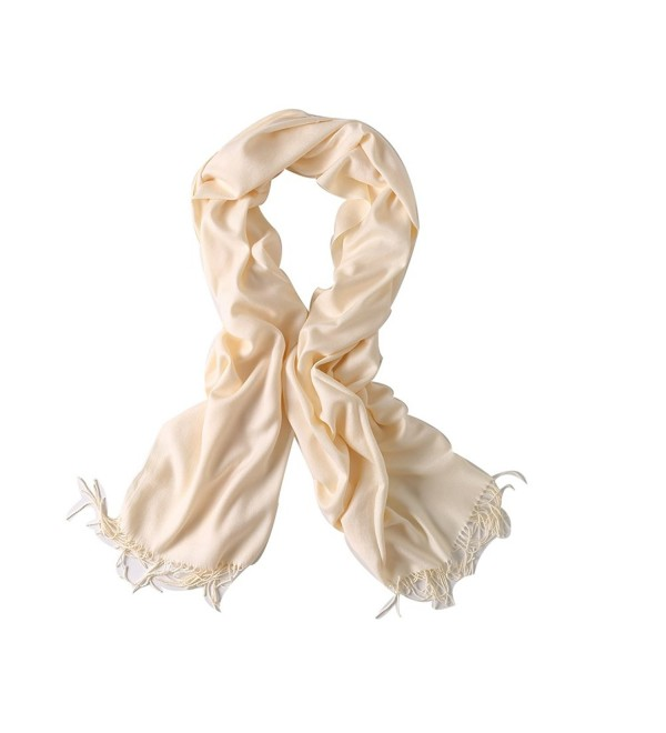 Bellonesc Cashmere Scarf Shawls for Women and Men - Milk White - CW186YKLDTX