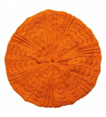 Hip Slouchy Lightweight Knitted Beanie - Orange - CG11JDQ3O5R