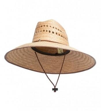 "TOP HEADWEAR TopHeadwear Ultra 5"" Wide Brim Straw Sun Hat w/Panel Holes - Natural - CS11ZGRKSN3"