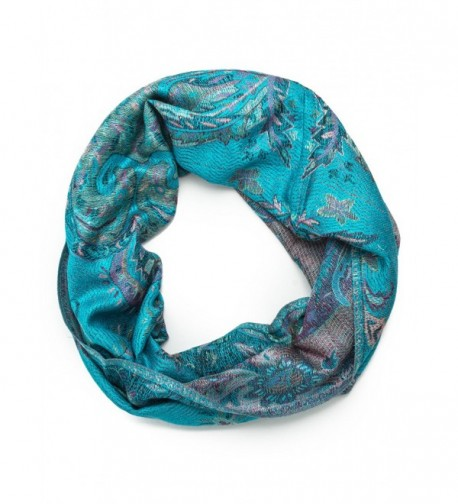 Bohomonde- Ramaya Infinity Scarf- Richly Colored Rare Infinity Pashmina Scarf - Turquoise/Lavendar - CZ1842W09GN
