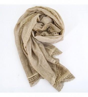 Monique Pleated Cotton Autumn Scarves in Fashion Scarves