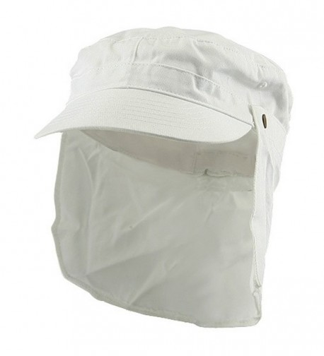 Army Cap with Flap-White - CI111GHKKUX