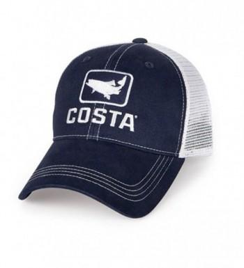 Costa XL Trout Trucker Hat - Navy/White - CC119DTYZIT