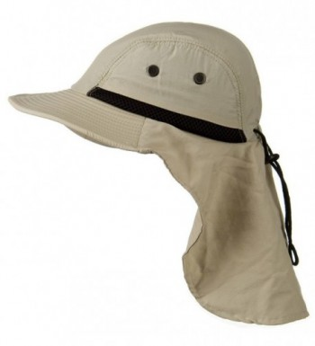 Stone Beige Outdoor Sun Flap in Men's Sun Hats
