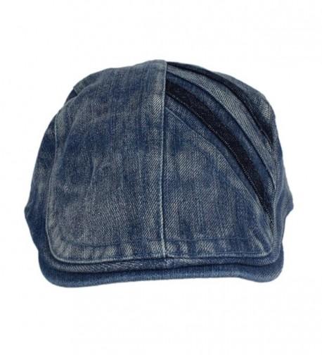 5c614089 ... Cap Ivy Irish Flat Cabbie Driver Golf Hat BXG - Medium Blue. Denim  Newsboy Gatsby Cabbie Driver