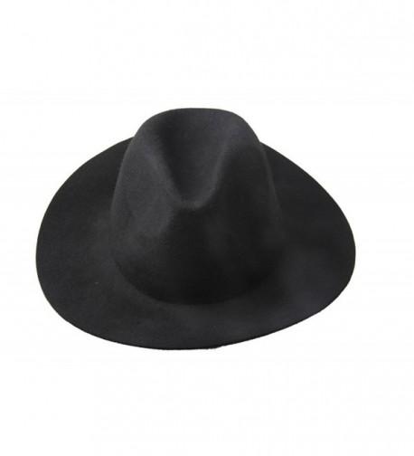 Dantiya Women's Ladies Floppy Wide Brim Felt Fedora Trilby Sun Hat - CT121FY7VE9
