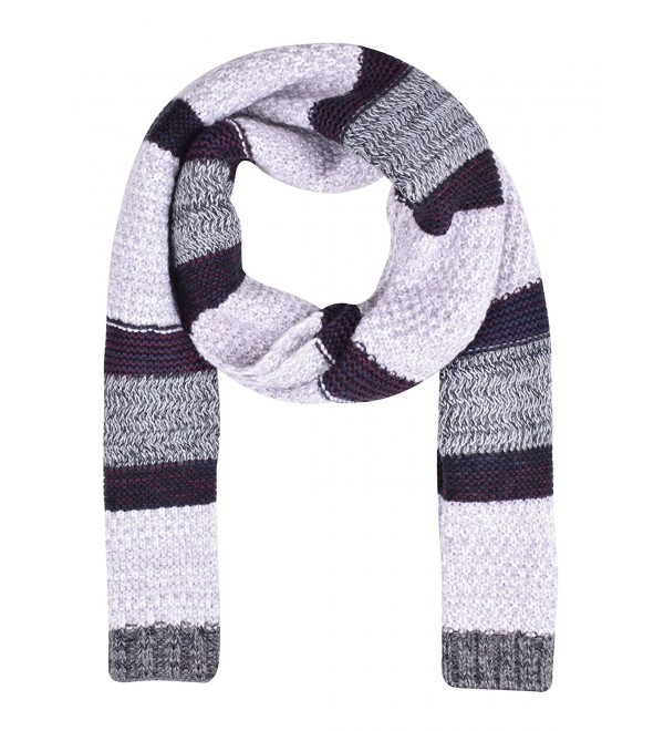 Unisex Knitted Scarf Warm Scarfs Mens Mixed Color Cute Scarves for Winter - White - CK1870RIRNZ