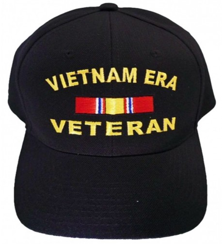 Vietnam ERA Veteran Cap and BCAH Bumper Sticker Embroidered Mens Military Hat - Vietnam ERA Reg BLACK - CK129I6DWFX