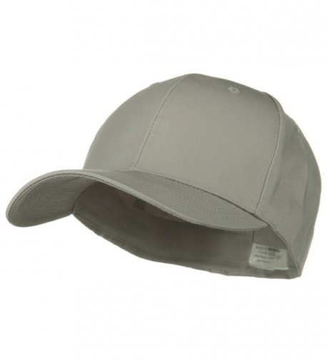Extra Size Fitted Cotton Blend Cap - Light Grey (For Big Head) - CD1173OXJ15