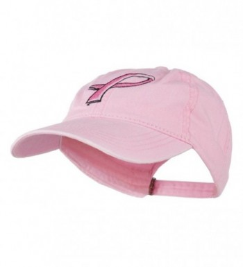 Pink Breast Cancer Embroidered Washed
