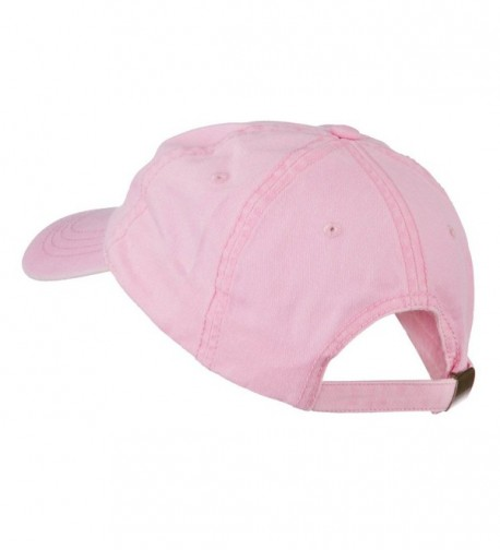 Pink Breast Cancer Embroidered Washed in Women's Baseball Caps