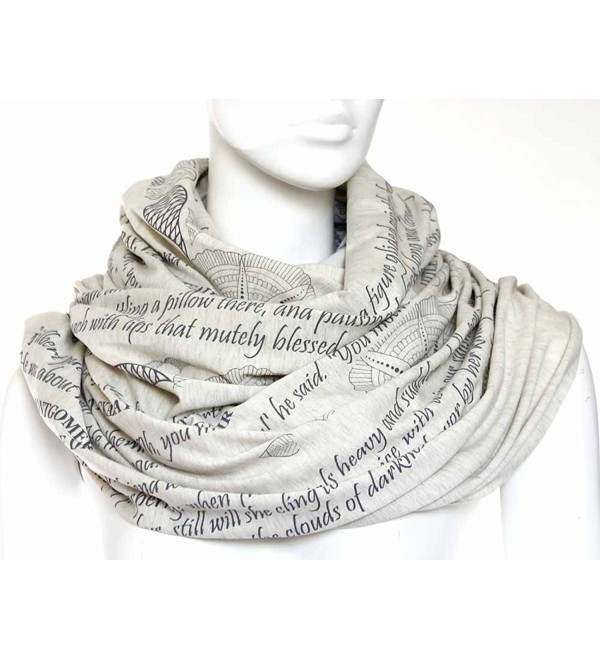 Mothers Tribute Book Scarf with a literary quotes - CB11WLPB0FN