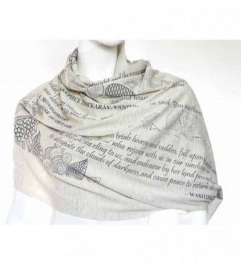 Mothers Tribute Scarf literary quotes in Fashion Scarves