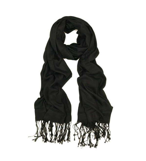 Eco-Friendly Premium Silky Soft Bamboo Fiber Scarf - Different Colors Available - Black - C9116SW7NL5