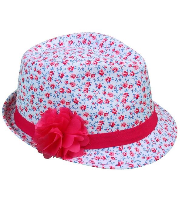 Simplicity Girls' Summer Cotton Beach Sun Hat With Flowers - C211DPX1MKD