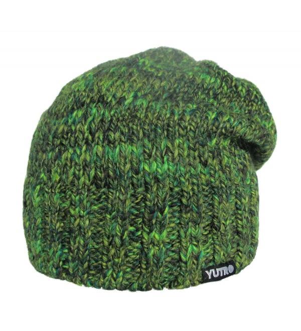 YUTRO Fashion Women's Slouchy Fleece Lined Wool Winter Ski Beanie Skully Hat 14 COLORS - Green Grass - C7129B8C0ID