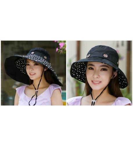 b7f427bf Packable Extra Large Brim Floppy Sun Hat Reversible UPF 50+ Beach Sun  Bucket Hat -. iHomey Packable Shapeable Floppy Reversible