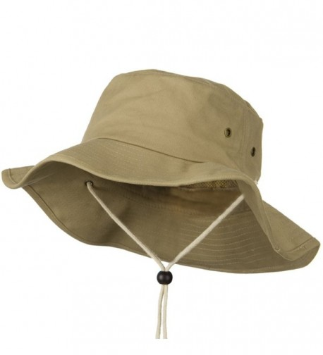 Big Size Cotton Australian Hat - Khaki (For Big Head) - CR110J6BAY1