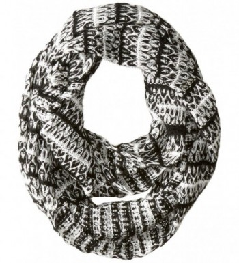 Threads 4 Thought Women's Patterned In Stripe Eternity Scarf - Black - CI127P9ZJ5L
