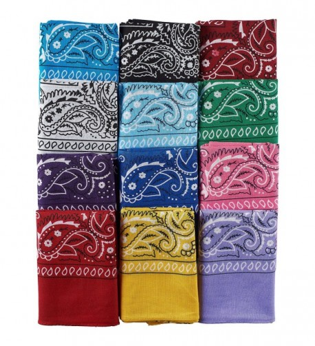 NJ Novelty Assorted Bandanas Pre tied
