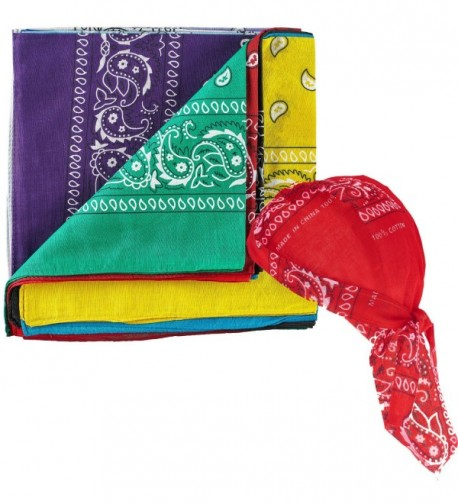 NJ Novelty Assorted Bandanas Pre tied in Fashion Scarves