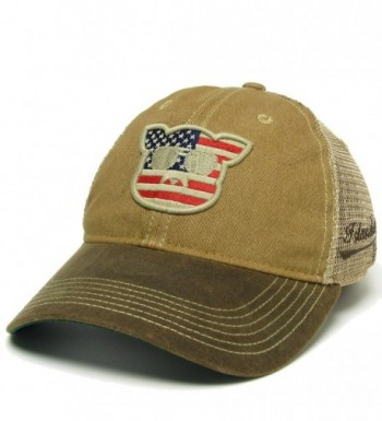Islanders Pig Face Trucker Hat - Khaki/Brown Waxed - CB1860NS4UK