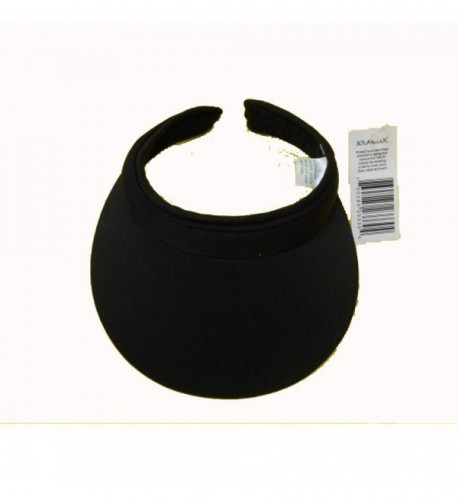 Cushees 233R Cotton Clip on Visor Black - CS11CZB0QWV