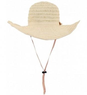 D Diana Dickson Womens' Wide Brim Floppy Summer Beach Sun Hat - Beige - CN1808MTCI6