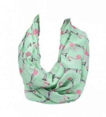 Kingfansion Women Ladies Flamingos Pattern Print Voile Wrap Shawl Scarf - CQ120R5IF7J