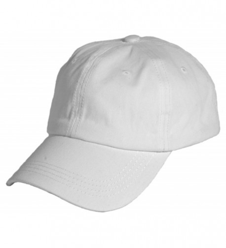 Levine Hat Unisex Stone Washed Cotton Baseball Cap Adjustable Size (7+ Colors) - White - C411ZX8VXOD