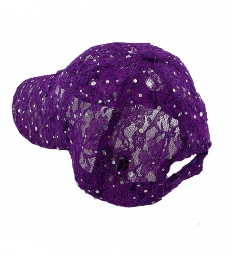 Lace Glitter Sequin Baseball Colors in Women's Baseball Caps